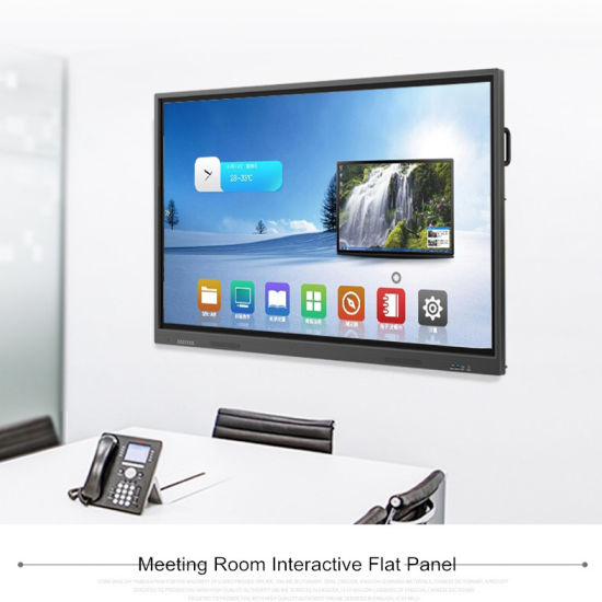 """86"""" Android 8.0 Infrared Touch Interactive White Board with Camera"""