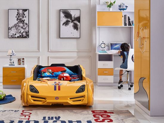 Unique Kids Race Car Bed for Bedroom Furniture for Boy and Girls