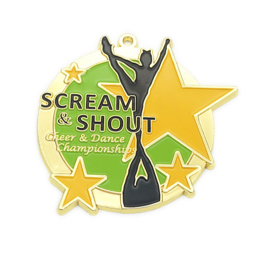 Promotional Souvenir Cheap Sports Game Custom Metal Medal with Ribbon