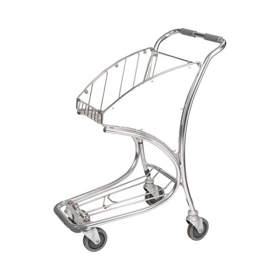 Standard Aluminum Material Chrome Plated Airport Trolley