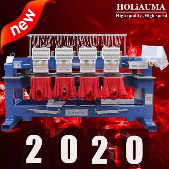 2019 Newest Holiauma Multi Head 4 6 8 Head Computerized High Speed Embroidery Machinery for Flat Cap T Shirt Embroidery with Dahao Newest Control System