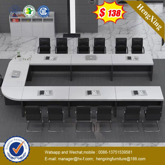 2.2 Meter Face to Face Plastic Traditional Melamine Conference Desk (HX-9DN071)