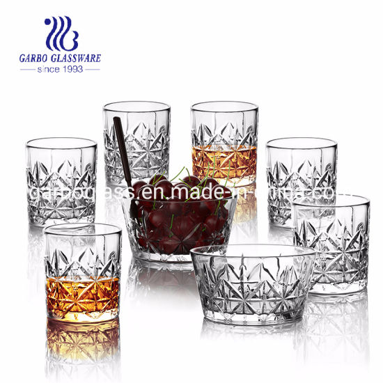 Wholesale High White Quality Engraved Glassware Mixed 7pcsset GB27025zs