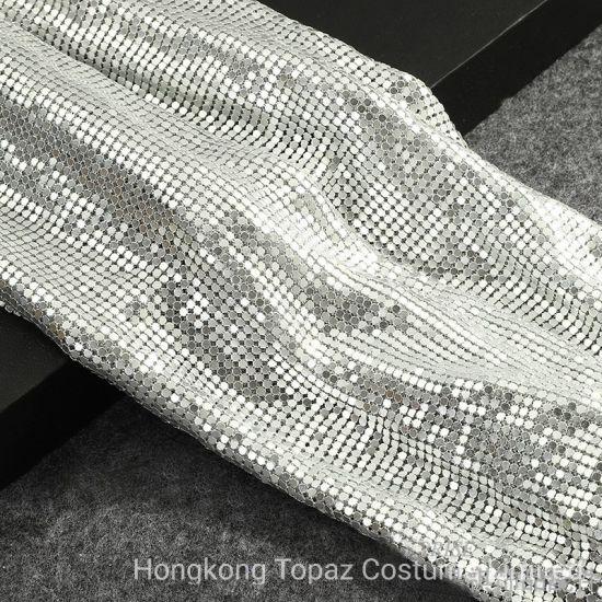3mm 45*150cm Alu Rhinestone Silver Mesh Trimming for Dress Decoration