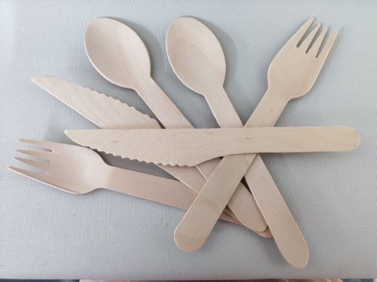 Disposable Products Cutlery Disposable Tableware Wooden Spoon Wooden Fork Wooden Knife