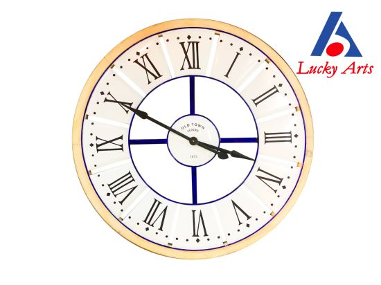 Home Decoration Round Metal Wall Clock