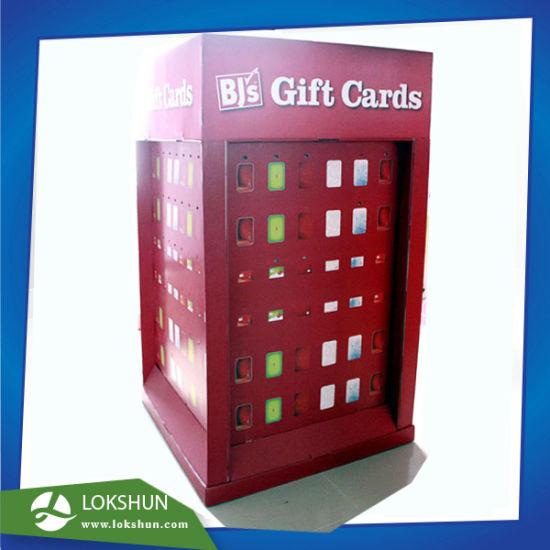 China red color offset printed pop cardboard retail greeting cards red color offset printed pop cardboard retail greeting cards display stand with hooks on 4 sides m4hsunfo