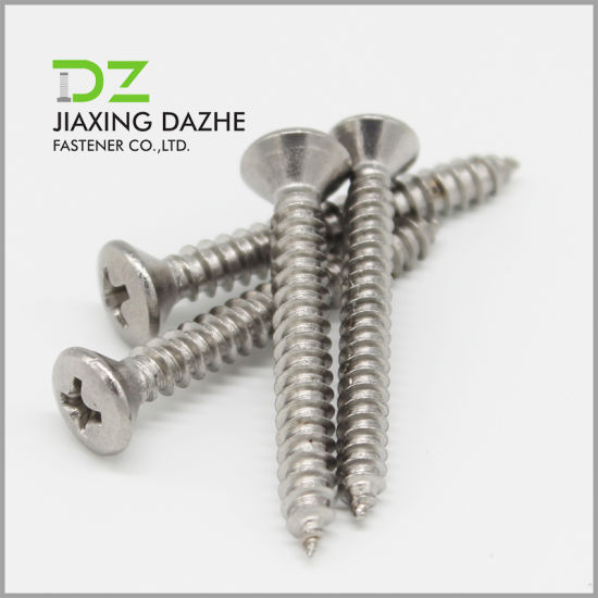 Stainless Steel Screw Oval Countersunk Head Self Tapping Screws pictures & photos