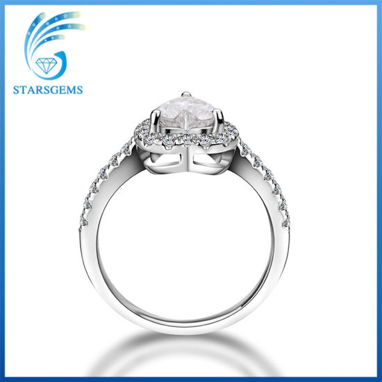 Heart Shape Brilliant Cut Vvs Clarity Fashion Style Moissanite Diamond Rings pictures & photos