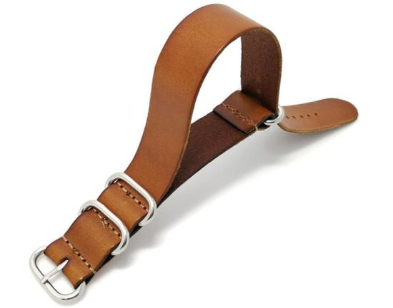 High End Nato Straps Genuine Cow Leather Watchband Straps 18mm 20mm 22mm Zulu Nato Watch Band Strap pictures & photos