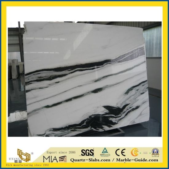 Natural Polished Panda White Stone Marble for Kitchen/Bathroom/Wall/Flooring/Step/Tile/Cladding pictures & photos