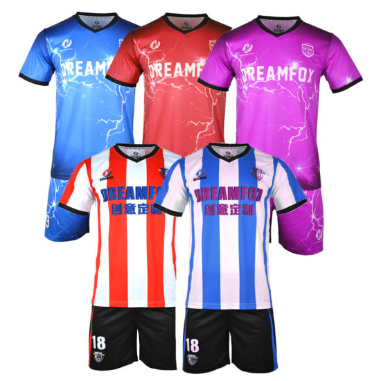 2018 Club Custom Soccer Jerseys Wholesale Soccer Uniform Football Shirt 5a49eb5ac505