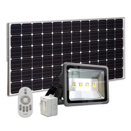 China 200w Led Solar Flood Lights Rf Remoter Control