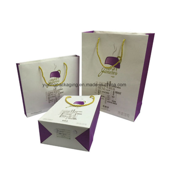 Customized Elegant colorful Gift Packaging Decorated Paper Bags