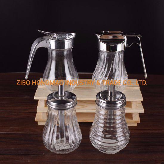 Pouring Spout Glass Sugar Salt Bottle Glass Condiment Container