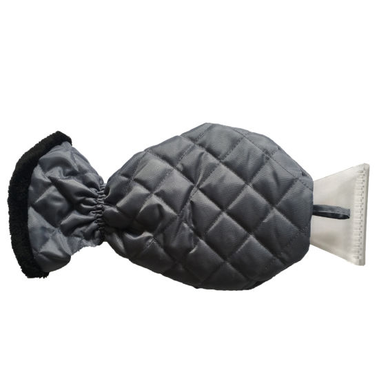 Waterproof Ice Scraper Mitten Snow Remover Glove with Lined of Thick Fleece for Car Windshield