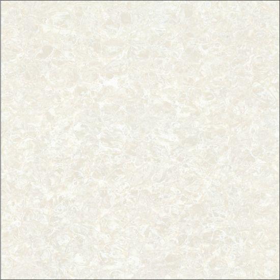 Popular 600*600mm White Pulati Design Unglazed Polished Double Loading Porcelain Floor Tile