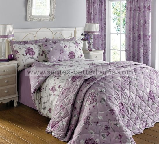 Fl Printed Coverlet Bedspread 7pcs, Bedding Set With Curtains