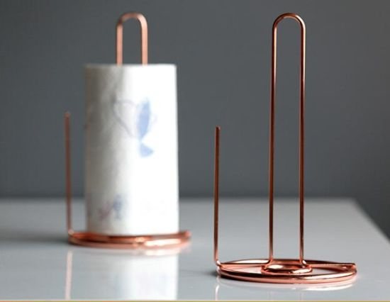Hot Copper Plated Paper Towel Holder For Kitchen Toilet
