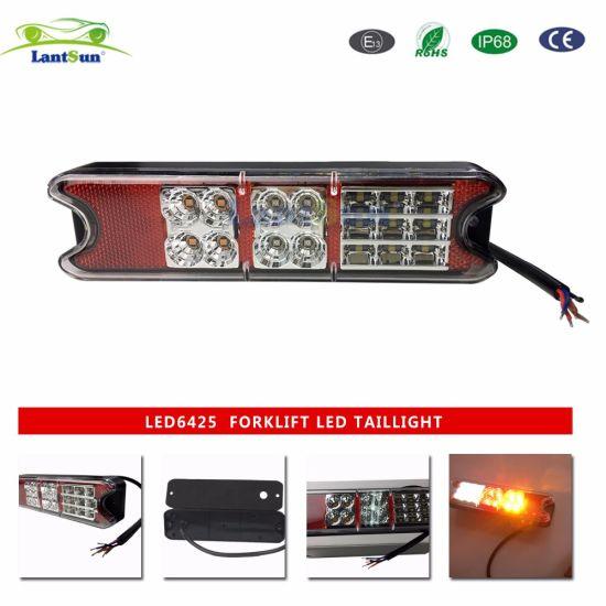 LED Forklift Tail Light 10-80V 2W IP68 Forklift Blue Safety Light LED6425
