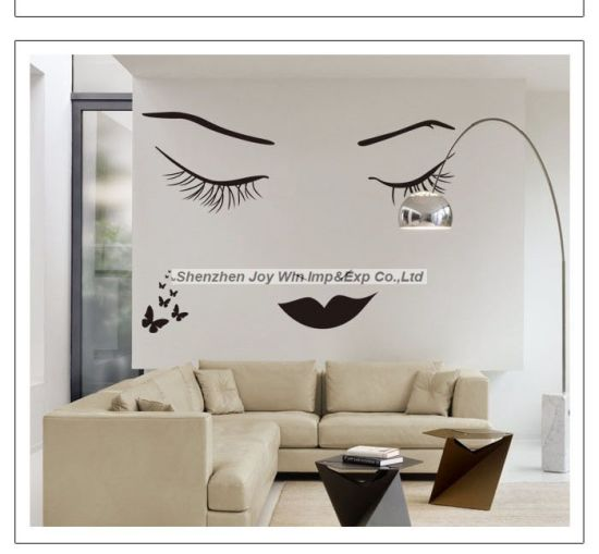 china long eyelash sofa background decorative wall sticker - china