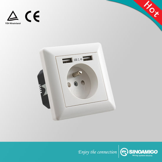 Magnificent China French Type Multi Electrical Wall Plug Socket With Usb Charger Wiring Digital Resources Otenewoestevosnl
