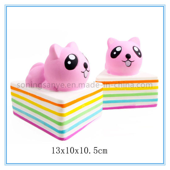 DTY0089 Donut Squishy Plastic Animal Toys for Kids Hand Squeeze Toys