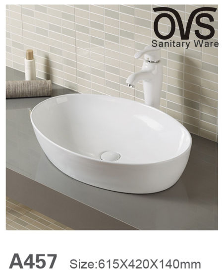 China Trends Low Price Porcelain Sink Bathroom Vanity Cabinet Basin