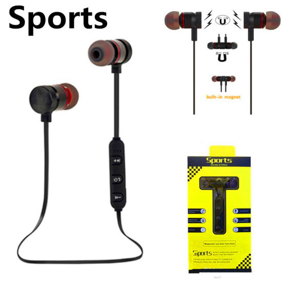 Magnetic Wireless Headset Metal Sports Bluetooth Headphone In Ear Earphone China Bluetooth Earphone And Magnetic Earphone Price Made In China Com