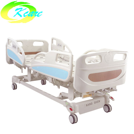 PP Bedside Rail 3 Cranks Manual Medical Hospital Bed with Angle Display