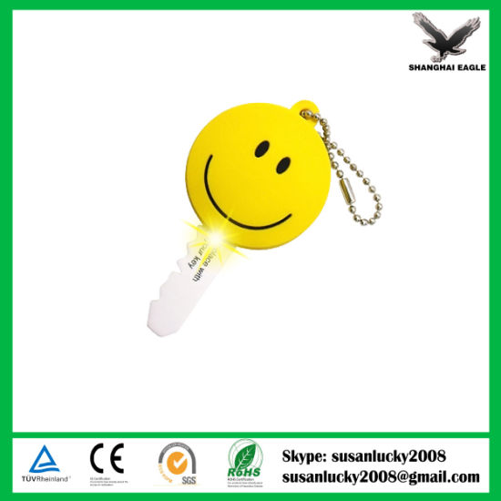 LED Flashlight Light Keyring with Logo Printed pictures & photos