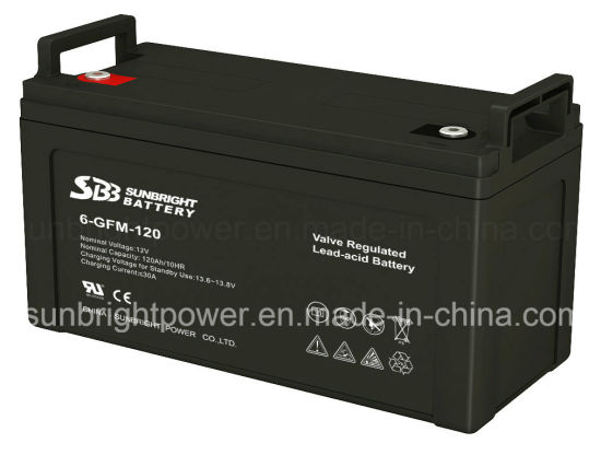 12V120ah Deep Cycle CE Approve Solar System VRLA Battery