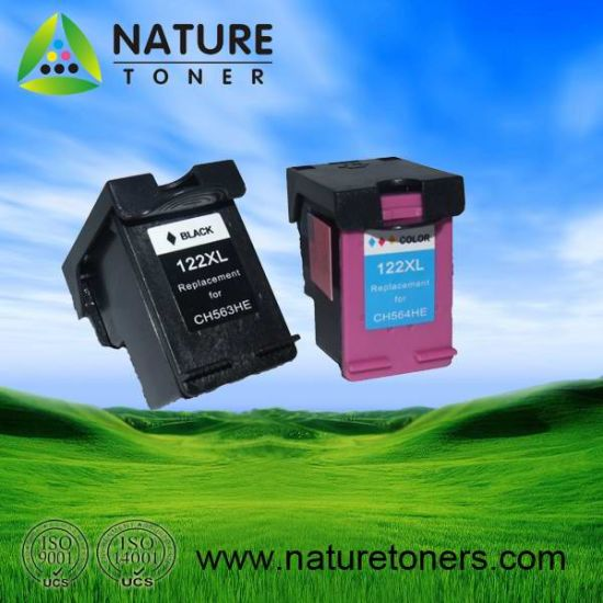 Remanufactured Ink Cartridge 122XL Bk (CH563HE) , 122XL Color (CH564HE) for HP Printer