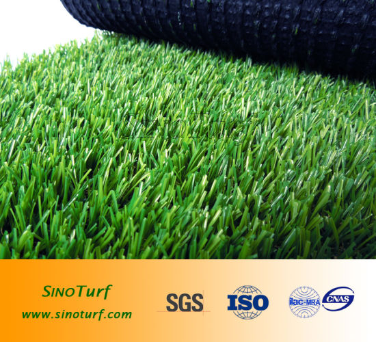 Chinese Golden Suppiler C Shape Yarn Synthetic Grass Turf, Landscaping Artificial Grass for Garden pictures & photos