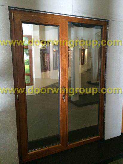 Solid Wood Aluminium Patio Door, Durable Wood Clad Aluminum Patio Door From Reliable Chinese Manufacturer