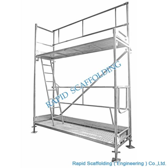 Galvanized Construction Scaffolding Steel Frame System for Sale