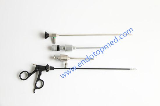 0deg 5X300mm Veterinary Laparoscope Thoracoscope with Trocar, Forceps