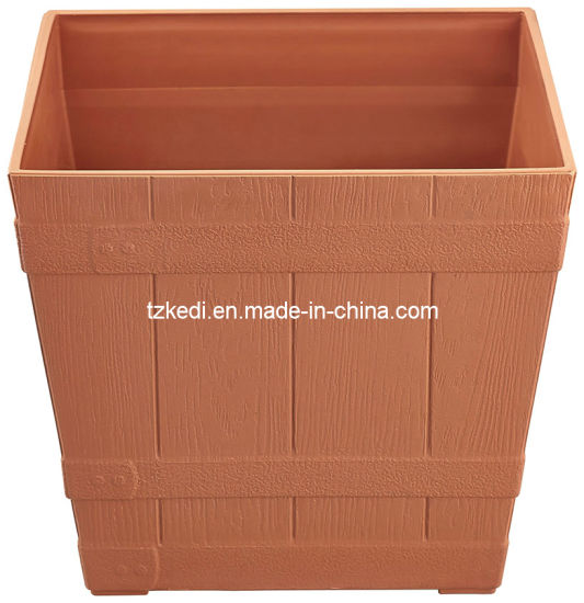 Square Plastic Barrel Planter (KD4912-KD4913) pictures & photos