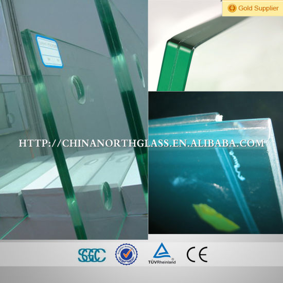 12mm+1.78mm Sgp+12mm Glass Clear Tempered Laminated Glass pictures & photos