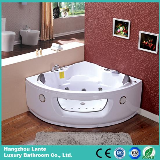 Indoor Corner Jacuzzi Bathtub with Two Loudspeaker (CDT-001 Pneumatic Control)