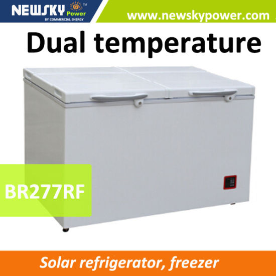 12V Fridge Freezer Battery Powered Freezer 318L Horizontal Freezer pictures & photos