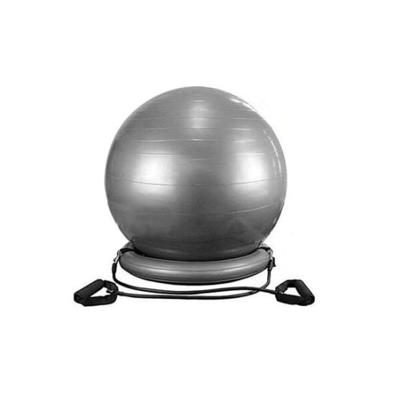 Exercise Ball Chair System Yoga And Pilates 65 Cm Ball With Stability Base And Workout Resistance Bands For Gym Home Or Office Esg13023 China Exercise Ball And Exercise Ball Chair
