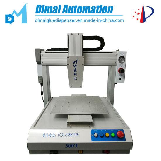 Automatic Hot Melt Adhesive Glue Dispensing Machine on Glass