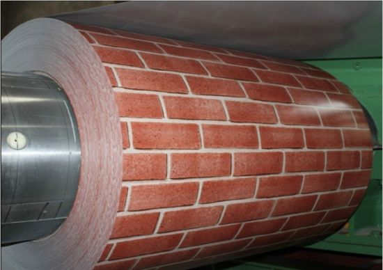 Pre-Painted Aluminum Coil in Brick Pattern pictures & photos