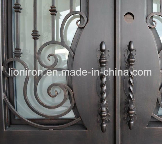Steel Door with Tempered Glass and Screen pictures & photos