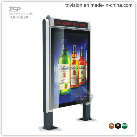 City Scrolling Light Box Display (TOP-SB01) --Billboard Self Stand Light Box pictures & photos