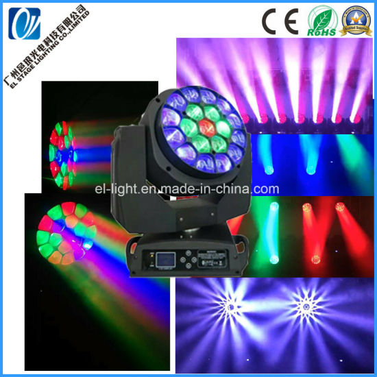 19PCS 15W RGBW 4in1 LED Beam Moving Head Big Bee Eye Light From EL Stage Light