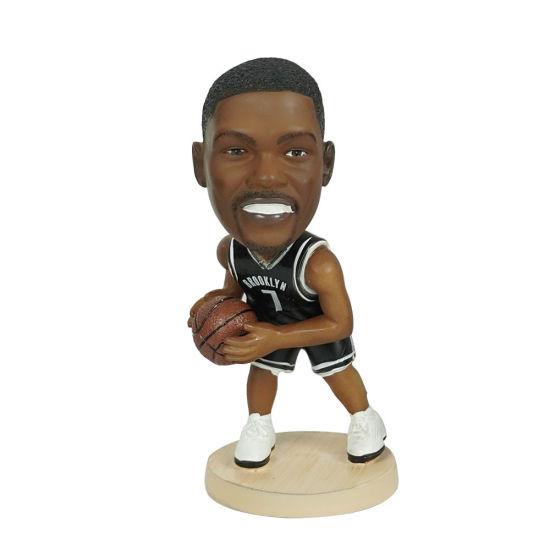 12cm Small Polyresin NBA Baller Durant K Action Figure Dashboard Bobble Head
