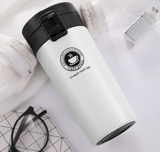 Wholesale Stainless Steel Double Walled Vacuum Travel Thermos Cup and Mug with Lids