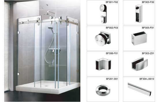 China Xiamen Supplier SS SS Shower Door Hardware For Bathroom - Bathroom partition door hardware